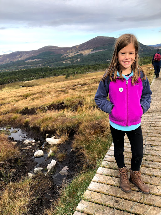 Gril on hike in Cairngorm National Park