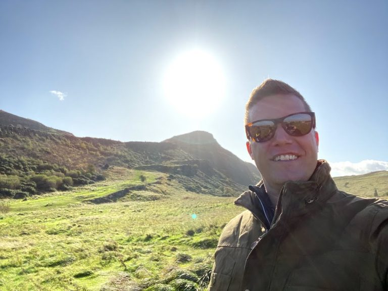Selfie at Aurther Seat Edinburgh Scotland