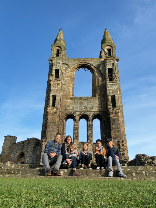 Family at St.Andrews Cathedral