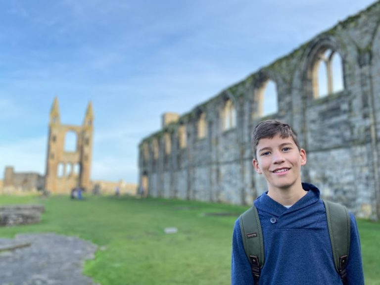 Teen boy at St. Andrews Cathedral