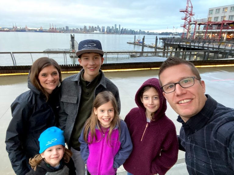 Family Pic in Lower Lonsdale Vancouver