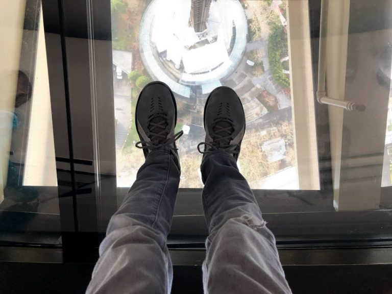View from Space Needle Revolving Glass Floor