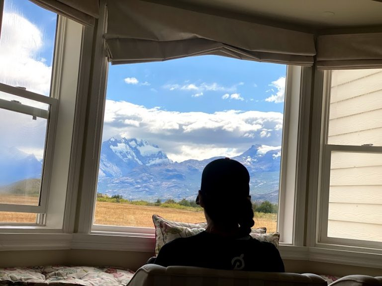 View from room at Estancia Cristina in Patagonia
