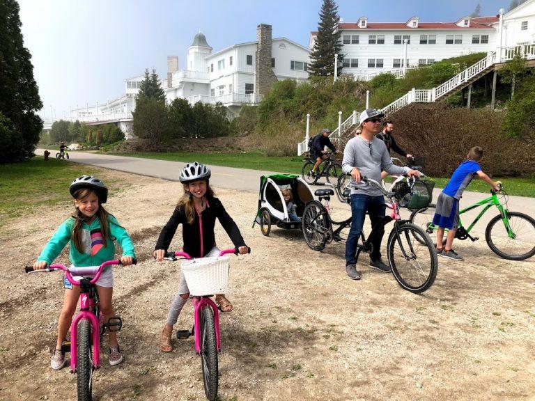 Family Bike Ride on Mackinac Island