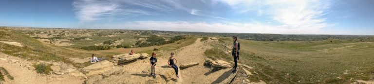 Panoramic picture in Theodore Roosevelt National Park